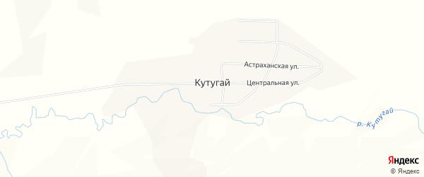 Карта села Кутугай в Забайкальском крае с улицами и номерами домов