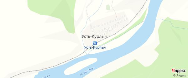 Карта села Усти-Курлыча в Забайкальском крае с улицами и номерами домов