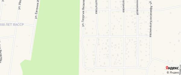 Улица Ивана Яковлева на карте села Сунтар Якутии с номерами домов