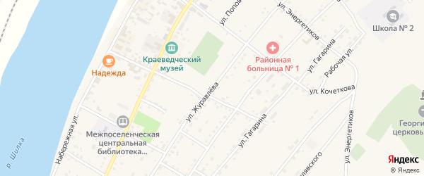 Улица Журавлева на карте Сретенска с номерами домов