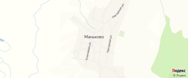 Карта села Маньково в Забайкальском крае с улицами и номерами домов