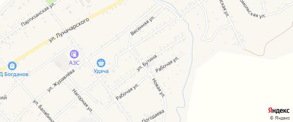 Улица Бутина на карте Сретенска с номерами домов