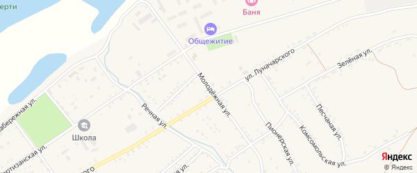 Молодежная улица на карте Сретенска с номерами домов