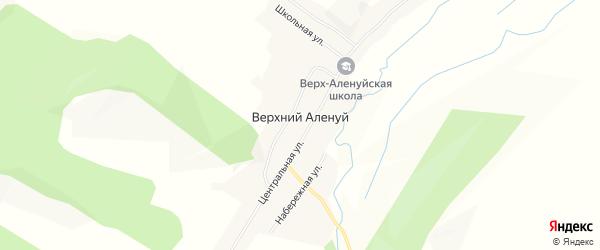 Карта села Верхнего Аленуй в Забайкальском крае с улицами и номерами домов