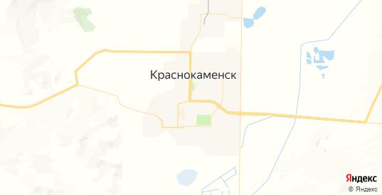 Карта Краснокаменска с улицами и домами подробная. Показать со спутника номера домов онлайн