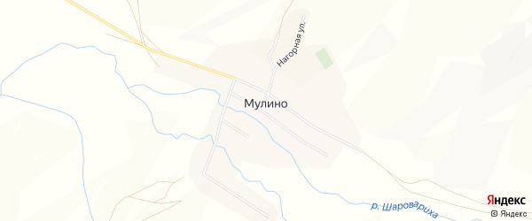 Карта села Мулино в Забайкальском крае с улицами и номерами домов