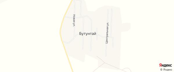 Карта села Бутунтая в Забайкальском крае с улицами и номерами домов