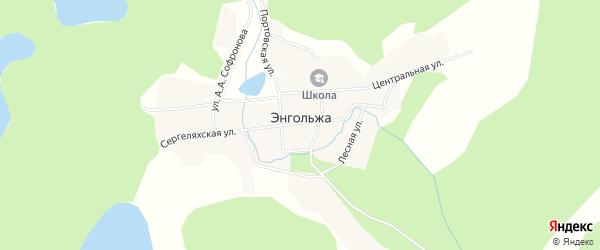 Карта села Энгольжа в Якутии с улицами и номерами домов