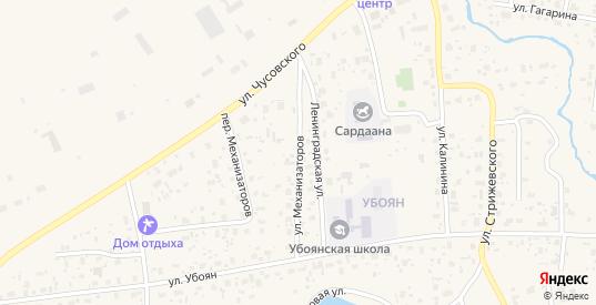 Улица Механизаторов в Нюрбе с номерами домов на карте. Спутник и схема онлайн