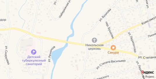 Амакинская улица в Нюрбе с номерами домов на карте. Спутник и схема онлайн