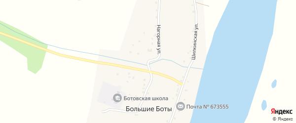 Нагорная улица на карте села Большие Боты Забайкальского края с номерами домов