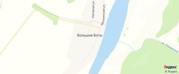 Карта села Большие Боты в Забайкальском крае с улицами и номерами домов