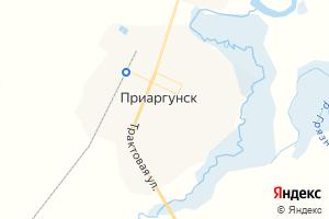 Карта пос. Приаргунск Забайкальский край