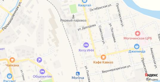 Улица Плясова в Могоче с номерами домов на карте. Спутник и схема онлайн