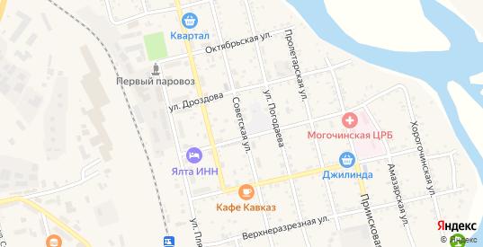 Советская улица в Могоче с номерами домов на карте. Спутник и схема онлайн