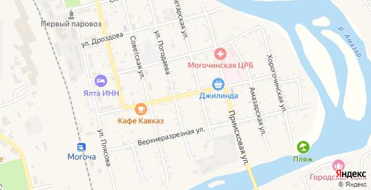 Вокзальная улица в Могоче с номерами домов на карте. Спутник и схема онлайн