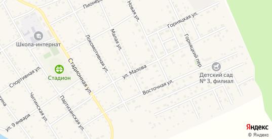 Улица Им В.Малова в Могоче с номерами домов на карте. Спутник и схема онлайн