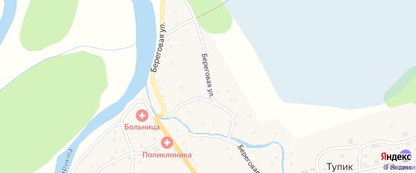 Береговая улица на карте села Тупика Забайкальского края с номерами домов