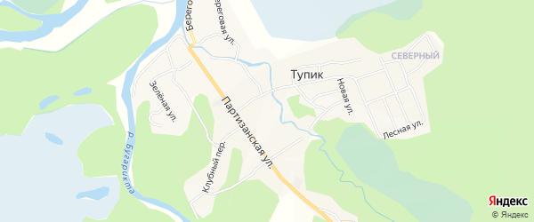 Карта села Тупика в Забайкальском крае с улицами и номерами домов