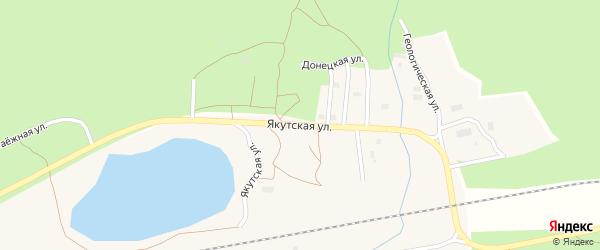 Якутская улица на карте поселка Хани с номерами домов