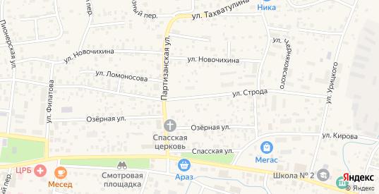 Улица Строда в Олекминске с номерами домов на карте. Спутник и схема онлайн