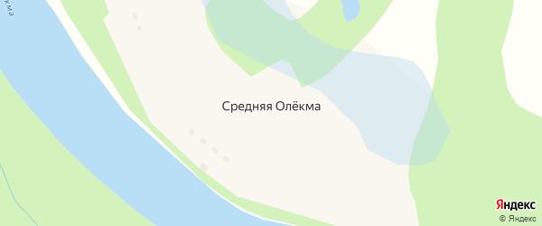 Высотная улица на карте села Средней Олекма Забайкальского края с номерами домов