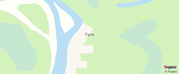 Береговая улица на карте села Гули Забайкальского края с номерами домов