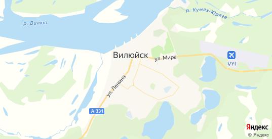 Карта Вилюйска с улицами и домами подробная. Показать со спутника номера домов онлайн