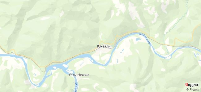 Юктали на карте