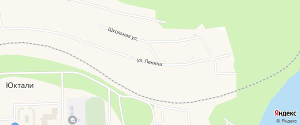 Улица Ленина на карте поселка Юктали Амурской области с номерами домов