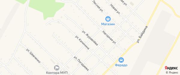 Улица Журавлева на карте поселка Ерофея Павловича с номерами домов