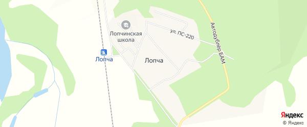 Карта поселка Лопчи в Амурской области с улицами и номерами домов