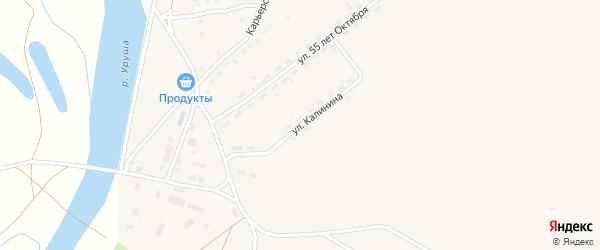Улица Калинина на карте поселка Уруши с номерами домов