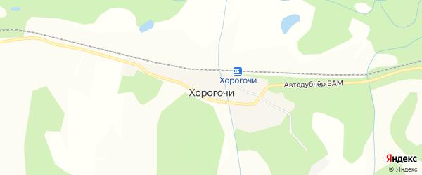 Карта села Хорогочи в Амурской области с улицами и номерами домов