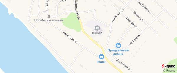 Школьная улица на карте села Джалинды с номерами домов