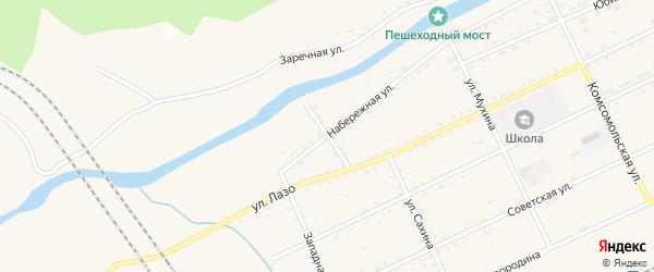 Неверский переулок на карте Сковородино с номерами домов