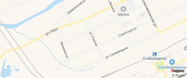 Улица Сахина на карте Сковородино с номерами домов