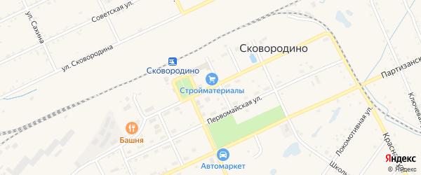 Октябрьская улица на карте Сковородино с номерами домов