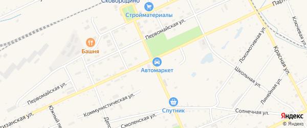Улица Калинина на карте Сковородино с номерами домов