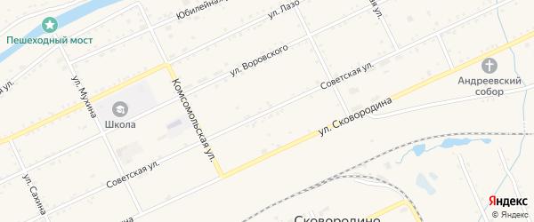 Советская улица на карте Сковородино с номерами домов
