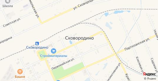 Мирный переулок в Сковородино с номерами домов на карте. Спутник и схема онлайн