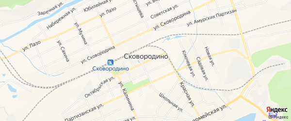 Территория ТОСЭР Свободный на карте Сковородино с номерами домов