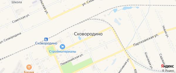 Материальный переулок на карте Сковородино с номерами домов