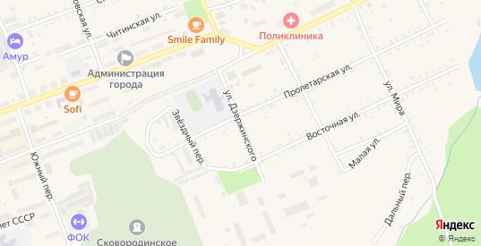 Улица Дзержинского в Сковородино с номерами домов на карте. Спутник и схема онлайн