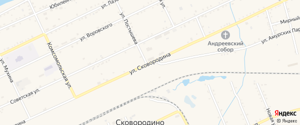 Улица Сковородина на карте Сковородино с номерами домов