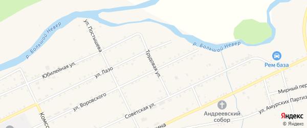 Трудовая улица на карте Сковородино с номерами домов