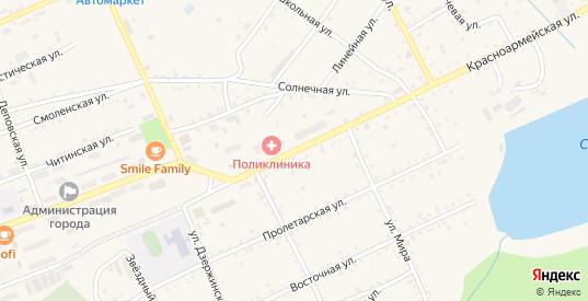 Красноармейская улица в Сковородино с номерами домов на карте. Спутник и схема онлайн
