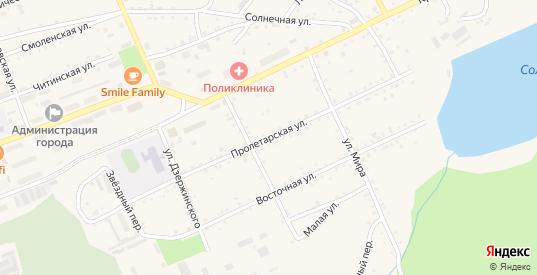 Пролетарская улица в Сковородино с номерами домов на карте. Спутник и схема онлайн