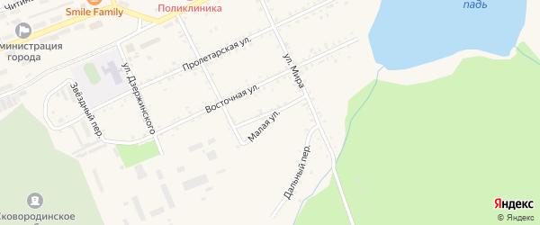 Живописный переулок на карте Сковородино с номерами домов