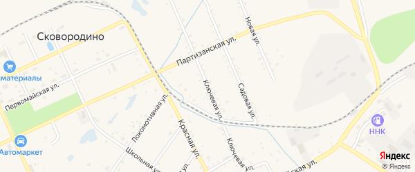 Ключевая улица на карте Сковородино с номерами домов